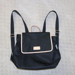 Kate Spade purse back pack black pink lining